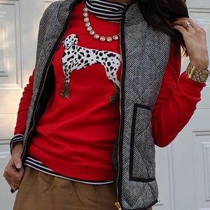 JCrew Factory dalmatian sweater xs